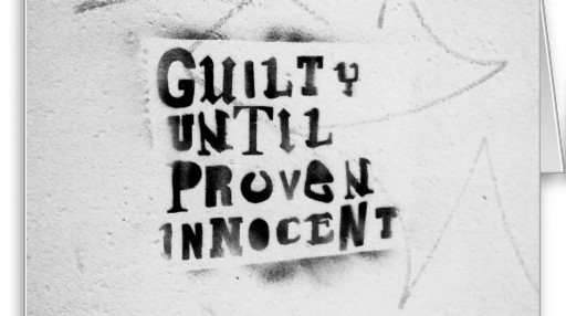 guilty until proven innocent spray paint stencil