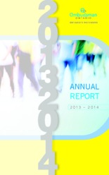 cover of the ombudsman 2013-2014 report