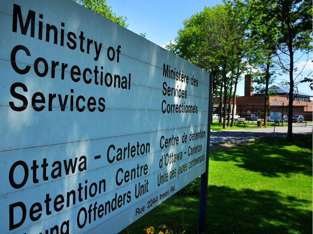 The main sign outside the Ottawa Carleton Detention Centre