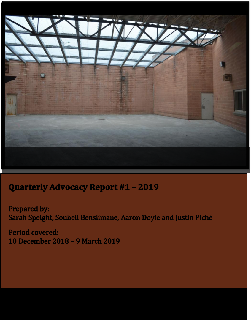 cover of the JAIL hotline's 2019 first report