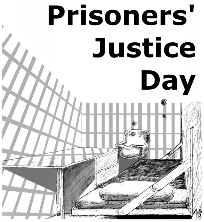 2019 Prisoners Justice Day - picture of a jail cell and urinal