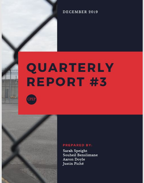 Jail hotline 3rd Quarterly report cover