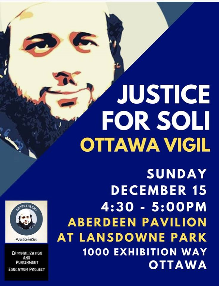 Justice for Soli vigil poster