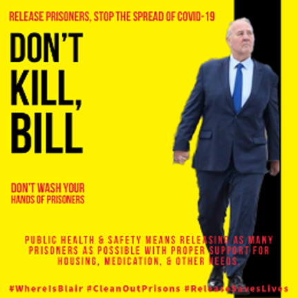 Do not kill, Bill poster mocking Bill Blair