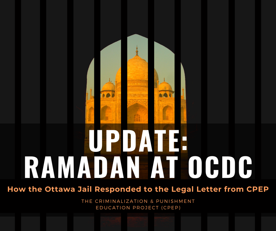 infographic describing the updates of the legal situation pertaining to muslim prisoners during ramadan