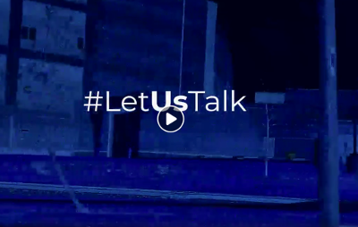 bell let us talk video screenshot with hashtag visible