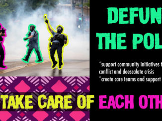 defund the police email zap poster