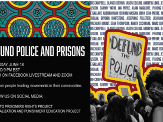 defund the police webinar poster