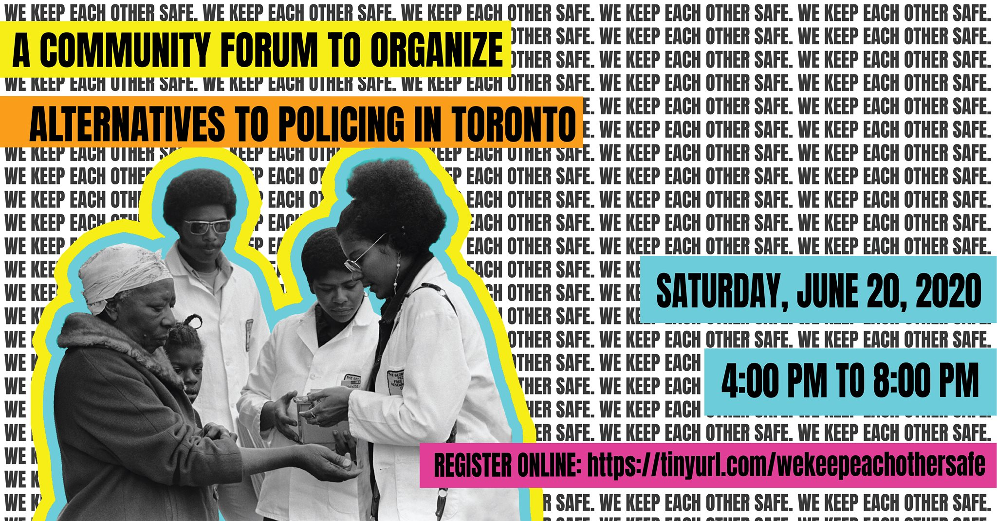 Alternatives to policing forum in Toronto poster