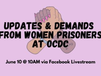 women at OCDC demands