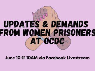 women at OCDC demands