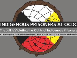 Indigenous Prisoners at OCDC are being violated by the jail poster