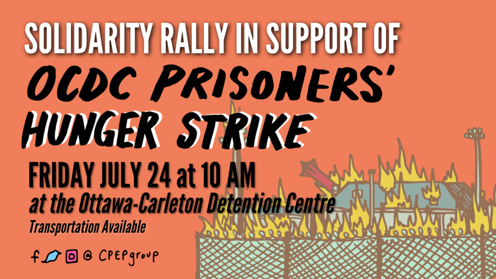 Rally at OCDC to support the hunger strikers