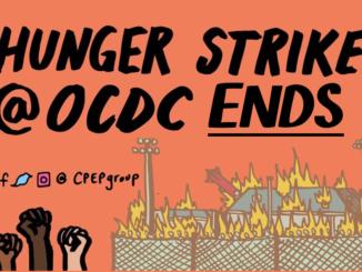 ocdc hunger strike ends poster