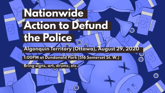 poster for the august 27th defund the police national day of action